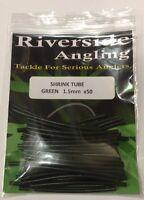 Heat Shrink Tube Green 1.5mm. X50 Ronnie Rigs Sleeves Carp Pike Fishing Hooks