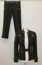 KAREN MILLEN femme vert à encolure ras-du-cou Utility Veste & Pantalon Suit UK8 EU36 W26