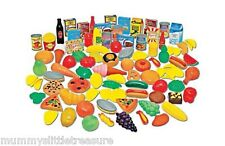 Role Play Grocery Food Shop Set Toy Child 104 Piece Tins Vegetables Fruit