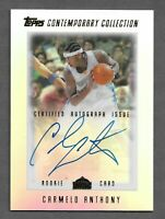 2003-04 Topps Contemporary Collection Carmelo Anthony RC Rookie AUTO /499 HOF
