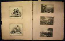 kleine Sammlung Scrap Book Sammelalbum Scrapbook Einklebebuch um 1840 sf