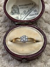 Antique Art Deco 18ct Gold Diamond Cluster Ring