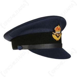 WW2 British RAF Visor Cap - Repro Pilot Peak Hat Uniform Air Force Officers New