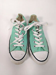 Converse All-Star Sea Glass Green Turquoise Lace Up Canvas Sneakers WOMENS 7