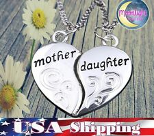 NEW Mother Daughter Heart Forever BFF Set Pendants 2 Necklace