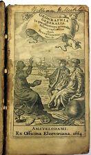 Geographia Generalis, Bernh Varenio, Amsterlodami Elzeviriana 1664 * Very Rare