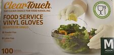 New listing Clear-Touch Food Service Vinyl Gloves, Medium, 100 ct