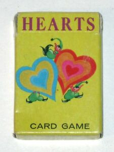 Vintage 1950s Whitman HEARTS Card Game! Complete w Instructions in Original Box!