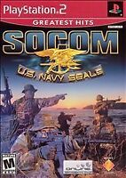Socom Us Navy Seals PS2 Playstation 2 Game 1 Complete Very Good Collectible U.S.