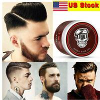 Men Hair Clay lasting Fluffy Hair Fixed Cream Strong Hold Retro Hair Styling Wax