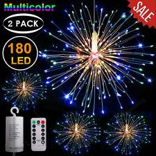 1/2PCS 180 LED Firework Outdoor Fairy String Light 8 Mode Starburst Hanging Lamp