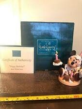 WDCC WALT DISNEY FIGURINE ~  MICKEY HAPPY BIRTHDAY WITH BOX & COA