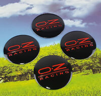 4pcs OZ RACING Auto Car Wheel Center Hub Cap Badge Emblem Decal Sticker 56mm