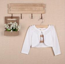 Girls Bolero Shrug Short Cardigan Long Sleeve Bridesmaid Wedding Bolero Coat