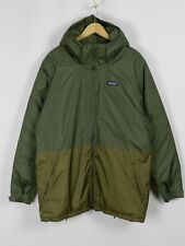 RRP$299 Patagonia Men's Insulated Torrentshell Parka Green Brown Jacket Size L