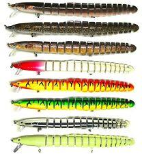 "Blitz Bite 8"" EEL Bass Pike Striper Fishing Bait Swimbait Lure Life-like"