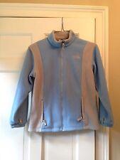 Girls L~The North Face~fleece full zip up jacket~powder blue gray