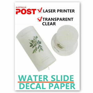 Laser Printer Waterslide Decal Paper Clear Water Decal For Wax Candle