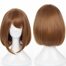 My Hero Academia Boku no Hiro Ochako Uraraka Short Hair Wig Cosplay Costume