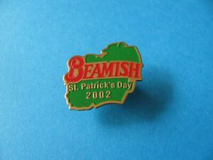 BEAMISH St Patrick's Day 2002 pin badge. VGC. Unused.