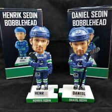 Henrik & Daniel Sedin SGA Bobblehead Bobble Head Set 1k Points Canucks LTD