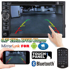 6.2'' Double 2 DIN 1080P Car Radio DVD CD Stereo Mirror Link for GPS Android iOS