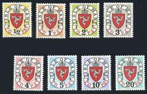 Isle of Man: 1973 First Issue Postage Dues (J1-J8) MNH