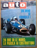 Auto Italiana - 1966 n° 49 - 24 Ore Le Mans - Karting - meccanica corse