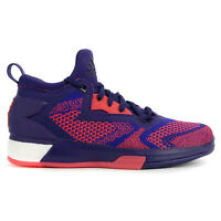 Adidas Men's D Lillard 2.0 Boost Primeknit Purp/Red Basketball Shoes Q16510 NEW!