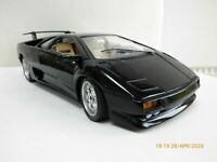 Rare 1 Model Black LAMBORGHINI DIABLO Toy CAR 1:18 Special Edition On Plinth