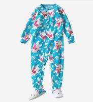 Carter's Girl Fleece Pajama Sleeper Size 24 Months Turquoise Pink Polar Bear