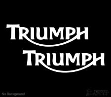 Triumph Motorbike Stickers Set of 2 Classic Motorcycle Decals 200mm Any Colour