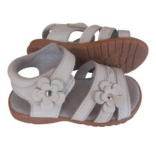 100% Leather Sallie Sandals white appx1-5yrs girls baby toddler child kids shoes