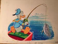 More details for rare disney vintage 1953 annual book art dean & son #12 fishing donald duck