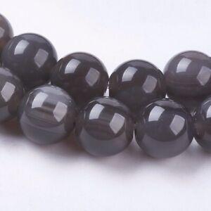 Strand 64+ 6mm Natural Ice Obsidian Plain Round Beads UK