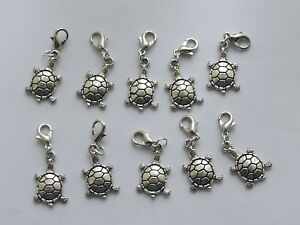 Set 10 Stitch Markers TORTOISE Knitting,Crochet,Row Counters,Charms etc