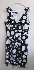 CHELSEA DESIGN  size 12  Black & Creamy White *Below the Knees* SUMMER Dress.