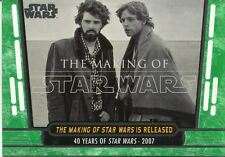 Star Wars 40th Anniversary Green Base Card #91 The Making of Star Wars is