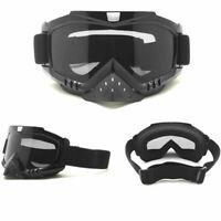 Retro Vintage Motorcycle Helmet Eyewear Goggles Riding Glasses Transparent Clear