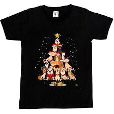 1Tee Perro Niños Niñas de árbol de Navidad T-Shirt