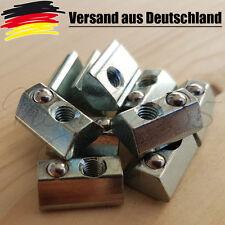 10x Nutensteine Nut 8  Profiel mit Steg, Schrauben M5, NEU 3D Drucker CNC v7
