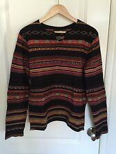 RALPH LAUREN RLX Himalayan Sweater in Black Red [Size S] Wool/Silk/Cashmere