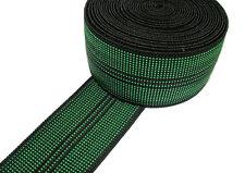 """10m Rotolo di cinghia elastica Tappezzeria Verde 2"""" per Ercol Cintique sedia divano"""