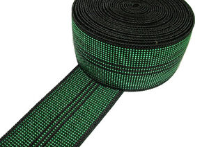 """10m Roll Of Green Elastic Upholstery Webbing 2"""" For Ercol Cintique Settee Chair"""