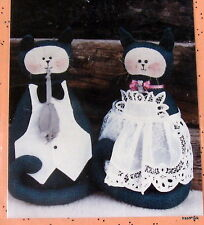 "Primitive country cat kitchen doorstop pattern Connie Spurlock 15"" Maid Butler"