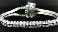 New Mens or Ladies 1 Row Genuine Diamond Bracelet 8 Inch
