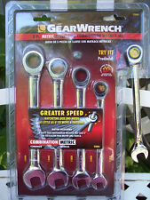 GearWrench 5 pc Ratcheting Combination Wrenchs Metric 93004
