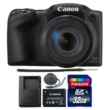 Canon PowerShot SX420 IS 20MP Digital Camera (Black) with 32GB Accessory Kit