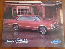 Chevrolet Malibu brochure 1980 Spanish text