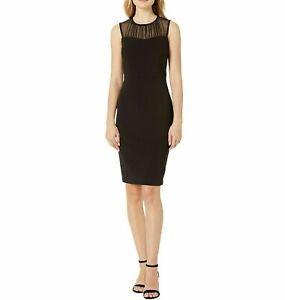 Calvin Klein Women's Illusion-Yoke Sheath Dress Size 10
